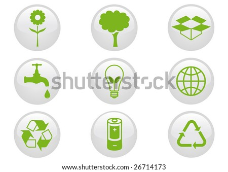 Environment icon set. Vector illustration.