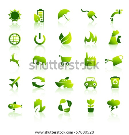 Environment icons set 1 - stock vector