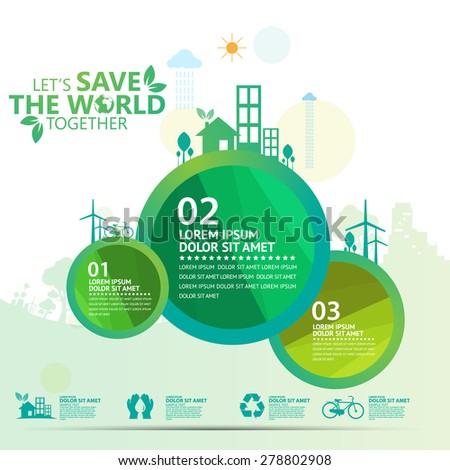 environment infographic - stock vector