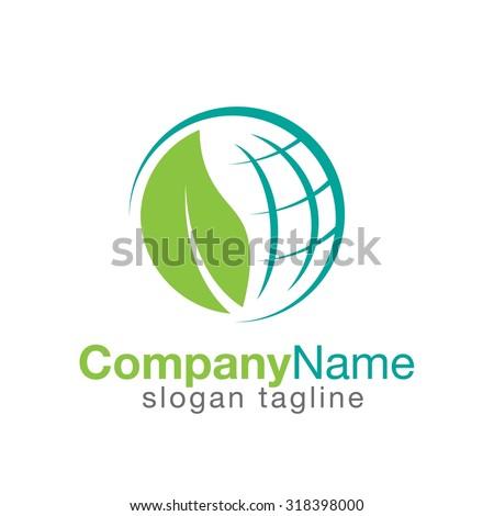 environment logo - stock vector