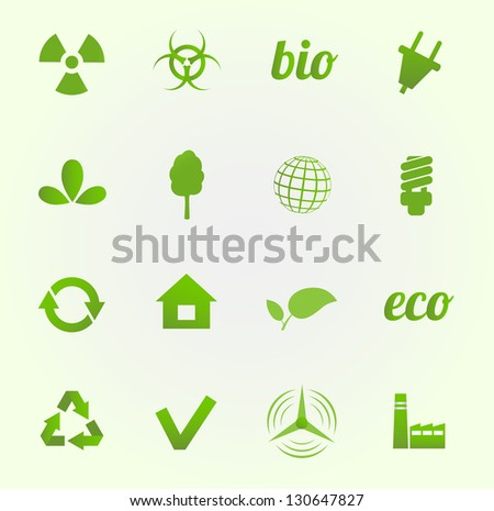 Environment vector icons set