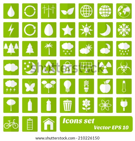 Environmental and eco icons. Vector eps10 - stock vector