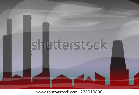 Environmental contamination - Vector illustration - stock vector