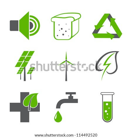 environmental logos - stock vector