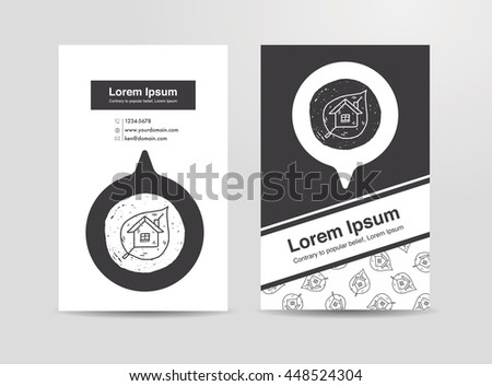Environmental protection concept; greenhouses; green house; doodle - stock vector