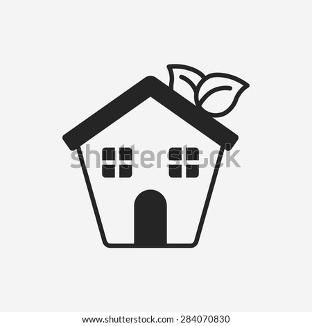 Environmental protection concept greenhouses icon - stock vector