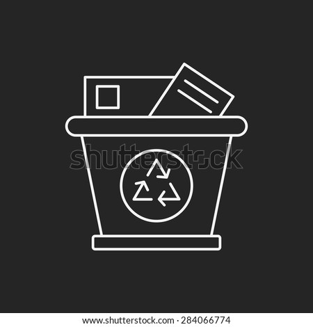 Environmental protection concept recycled garbage line icon