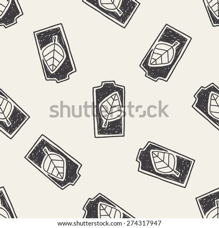 Environmental protection concept; Saving energy to protect our environment; doodle seamless pattern background