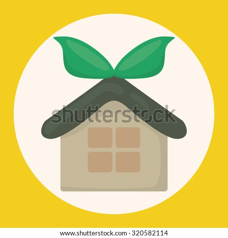 Environmental protection concept theme elements; greenhouses; green house - stock vector