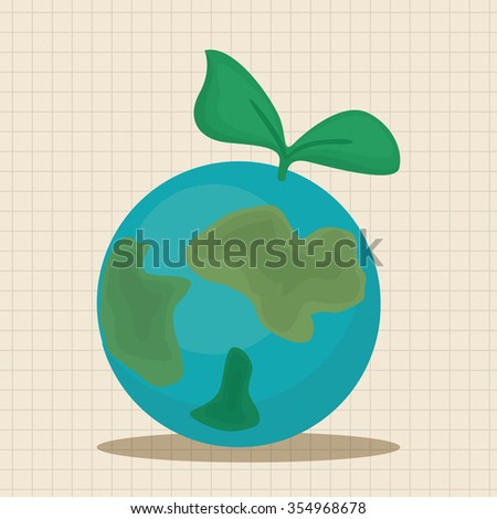 Environmental protection concept theme elements, Protect our environment, protect our planet