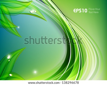 environmental vector concept  with  copy space. Eps10 - stock vector