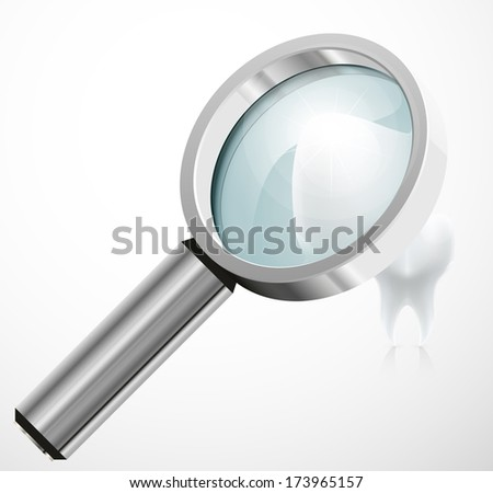 episodes, under a magnifying glass vector illustration abstract background eps 10 / episodes, under a magnifying glass