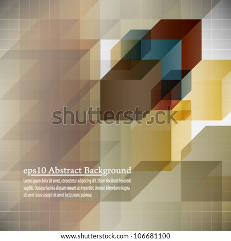 eps10 abstract background book cover design - stock vector