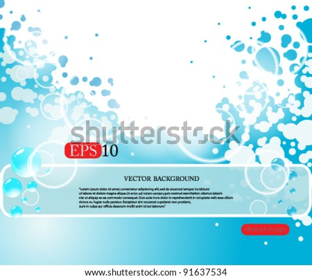 eps10 abstract background water bubbles - stock vector