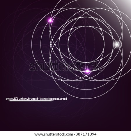 Eps10 Abstract background with overlapping circles and dots. Science motion and communication concept design