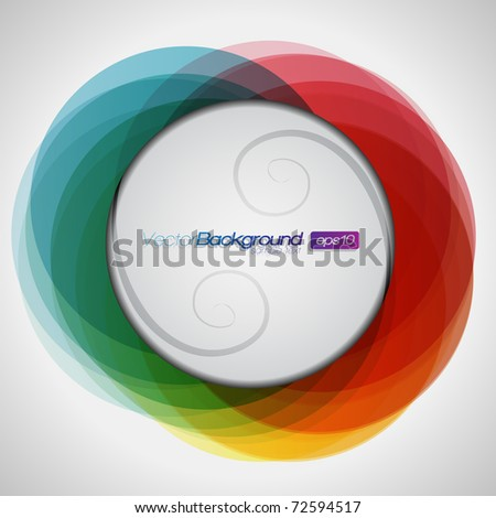 EPS10 Abstract Colorful Background Vector - stock vector