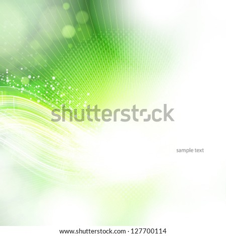 Eps10 abstract green and light background. - stock vector
