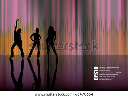 EPS10 abstract music background - stock vector