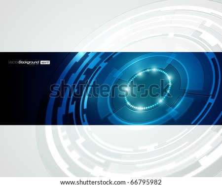 EPS10 Abstract Retro Technology Circles Vector Background - stock vector