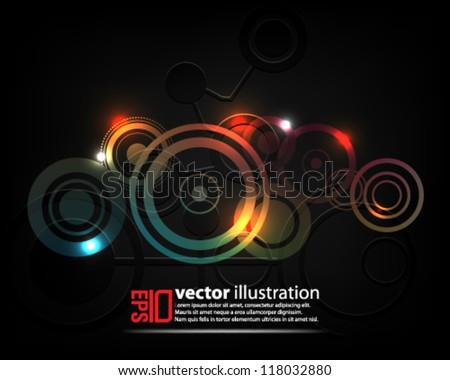 eps10 abstract vector design - futuristic crop circles concept - stock vector