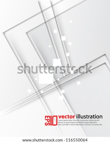 eps10 abstract vector design - futuristic monochrome background - stock vector