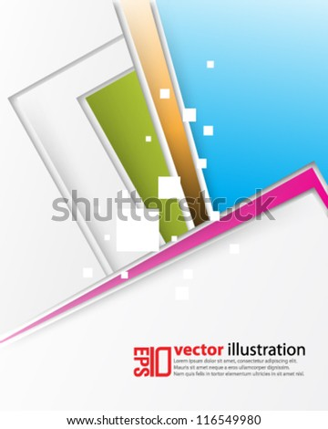 eps10 abstract vector design - futuristic multicolor background - stock vector