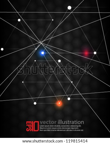 eps10 abstract vector design -  futuristic technology interface concept background - stock vector