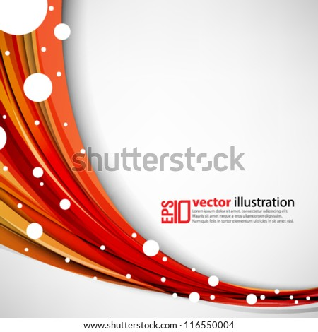 eps10 abstract vector design - futuristic wave with circles - stock vector