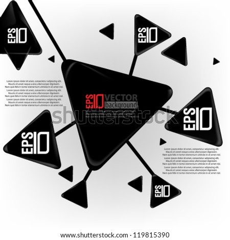 eps10 abstract vector design - geometric triangle concept design - stock vector