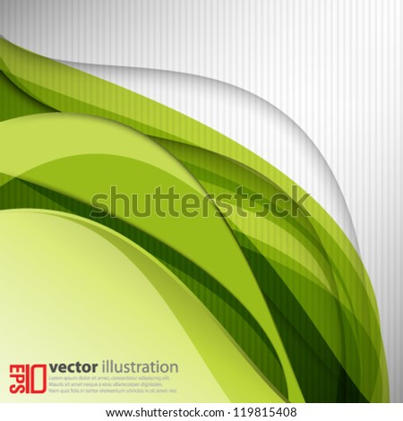 eps10 abstract vector design - green wave background concept - stock vector