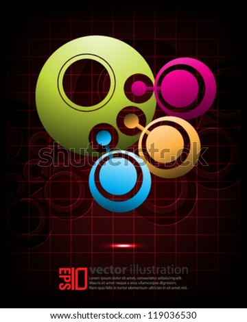 eps10 abstract vector design - multicolor crop circle on isolated background - stock vector