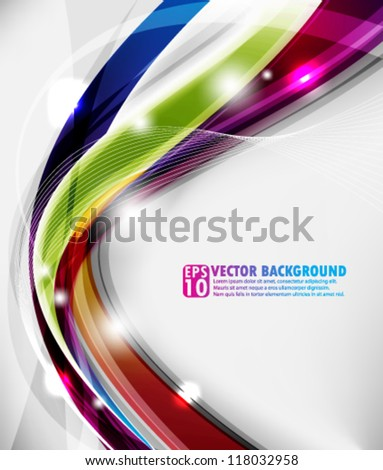 eps10 abstract vector design - multicolor wave concept