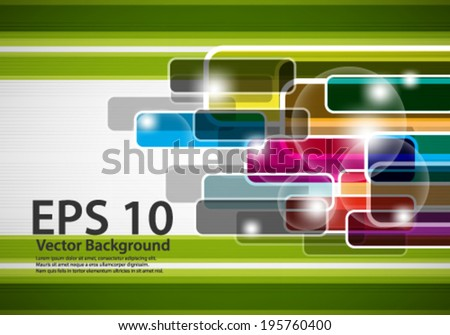 eps10 abstract vector design -multicolored geometric shapes on isolated backgound - stock vector