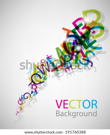 eps10 abstract vector design - multicolored letters on isolated background - stock vector