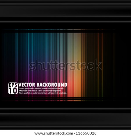 eps10 abstract vector design - multicolored spectrum background with borders - stock vector