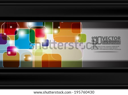 eps10 abstract vector design - multicolored squares on isolated backgound - stock vector
