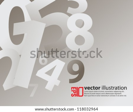 eps10 abstract vector design -  numbers futuristic illustration - stock vector