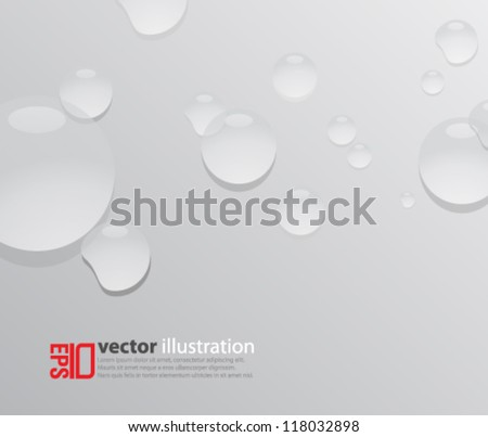 eps10 abstract vector design - water droplets on isolated background - stock vector