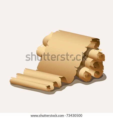 EPS10 Ancient scrolls past - stock vector