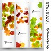eps10, autumn banner - stock vector