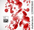 eps, background with red blood cells - stock vector