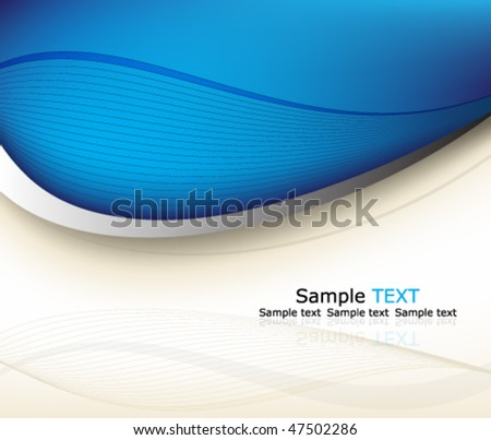 Eps10 blue background design - stock vector