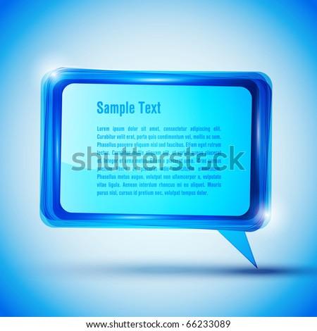 EPS10 Blue Speech Bubble Vector Background - stock vector