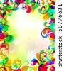 EPS10. Cheerful background. Visit my portfolio for more variations. - stock vector