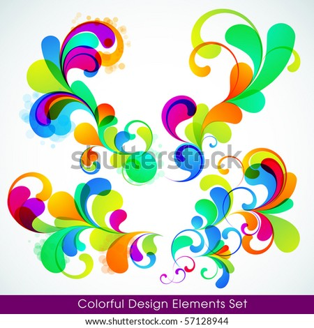 EPS10. Collection of editable trendy design elements. - stock vector