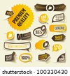 eps10, collection premium and high quality Labels, sign quality and satisfaction in the form of stickers - stock vector