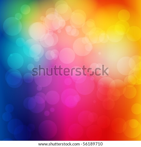 EPS 10 Colorful bokeh abstract light background - Vector illustration - stock vector