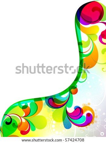 EPS10. Colorful editable background design - stock vector