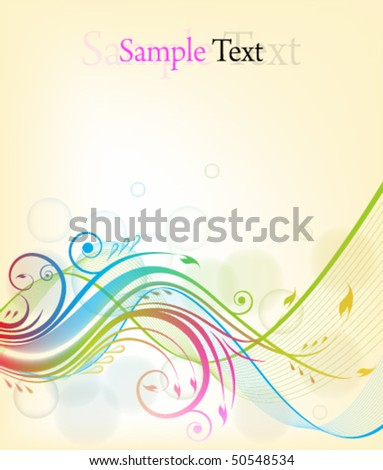 eps10 colorful floral background - stock vector