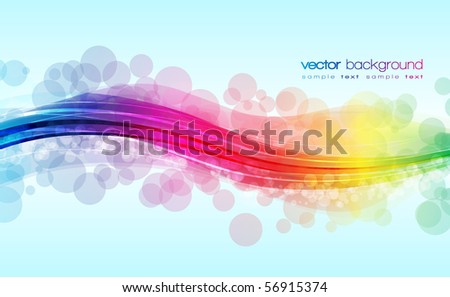 EPS10 Colorful Lines Abstract Vector Background - stock vector